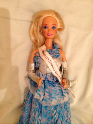 Antique barbie doll American beauty queen