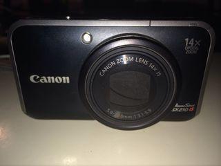 Camara canon sx210 is - practicamente nueva