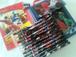 """Maletin lapices de colores """"Power Rangers"""""""