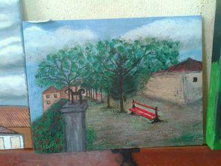 Cuadro pintado con acrílicos