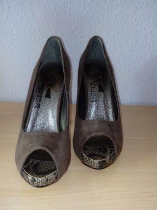 Zapatos peep toe NUEVOS!! T.39 y T.40