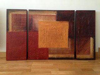 Cuadro Triptico Arte Contemporaneo