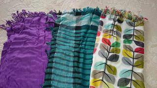 Lote de 3 foulards de colores