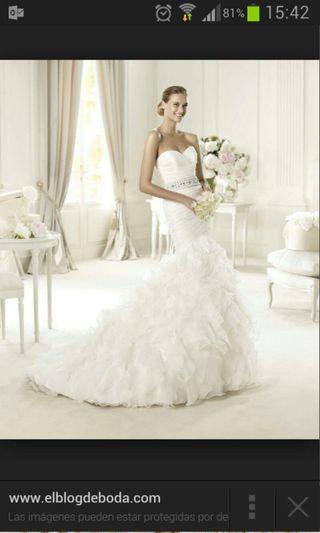 Vestido de novia modelo usia pronovias