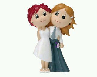 Figura tarta de boda chicas