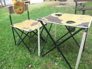 Mesa y silla de camping infantil plegable de segunda mano por 15 en taradell en wallapop - Mesa infantil plegable ...
