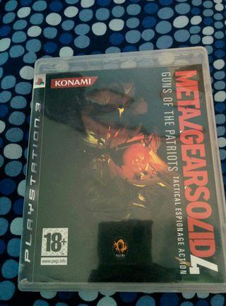 Juego Metal Gear Solid 4