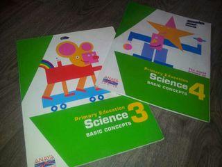 LOTE LIBROS TEXTO SCIENCE 3º y 4º PRIMARIA