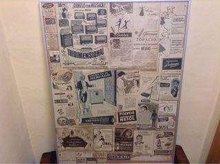 Poster Collage Publicidad Años 50