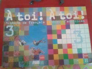 Libro y cuaderno Francés 3eso A toi