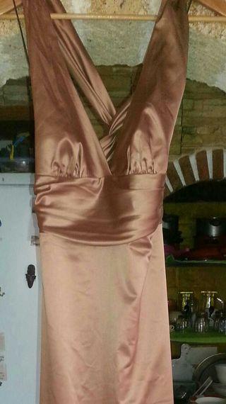 Vestido boda marrón brillante