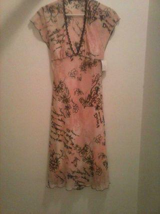 vestido de gasa estampado de diseño marca morgan