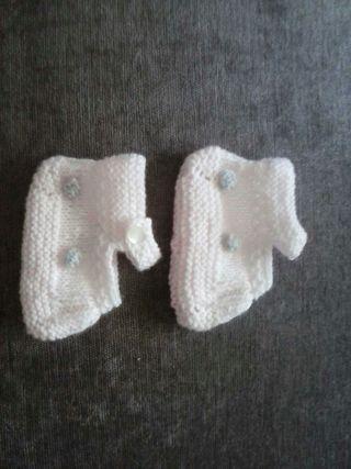 Zapatos de lana con bodoques