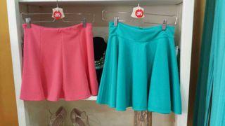 Faldas coral, verde vendida