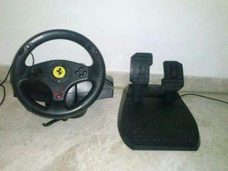 Volante y pedales compatible con pc y ps3