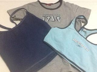 Tres camisetas de gym