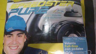 Volante de pley station 2(edición Fernando Alonso)