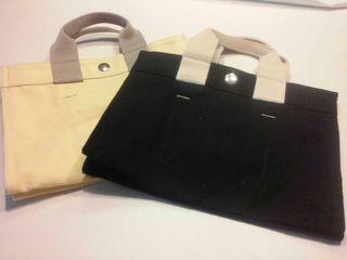 Bolsos tela amarillo y negro