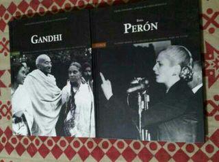 Nuevos.REBAJA !! 2 Libros GANDHI y EVITA PERON