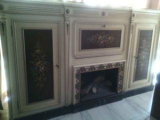 Mueble_bar con chimenea decorativa