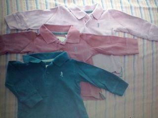 3 Polos de Zara 3/6 meses