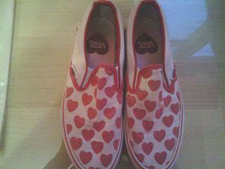 Zapatillas Vans corazones