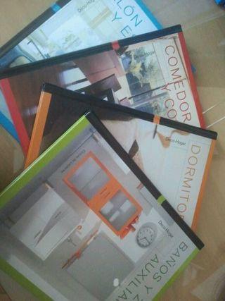 4 libros de decoración.