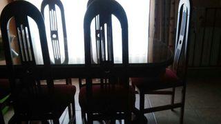 Mesa en Cerezo y 6sillas