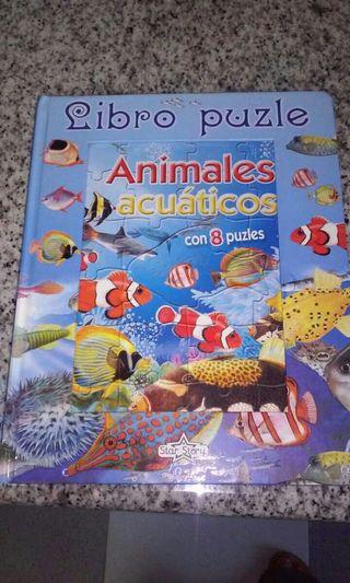 Libro puzzle. Animales acuaticos