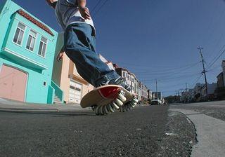 Skate tipo Snow 16 ruedas