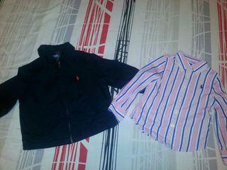 Chaqueta y camisa niño