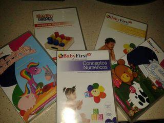 5 DVD baby first infantil, estimulación cognitiva