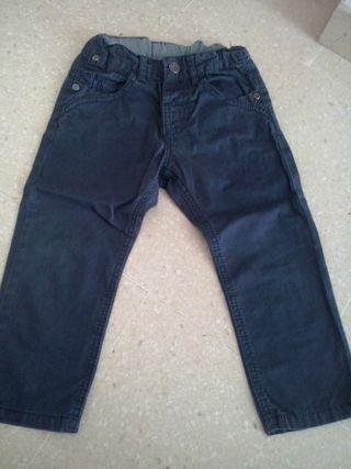 Pantalon azul marino Zara T.18/24