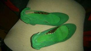 Zapatos de tacón de cua