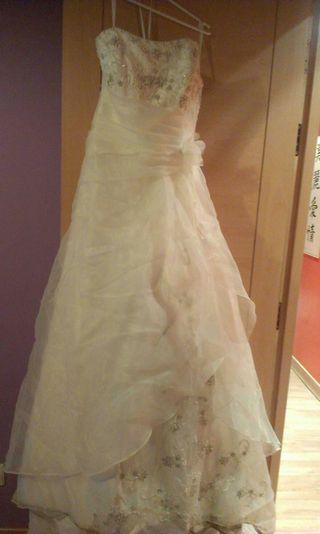 vestido de novia talla 38 de segunda mano en san sebastián de los