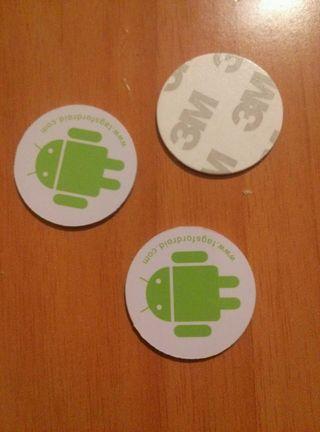Tarjetas pegatinas Tags para móvil Android NFS