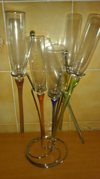Juegos de copas de champán modernas