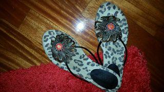 Sandalias leopardo