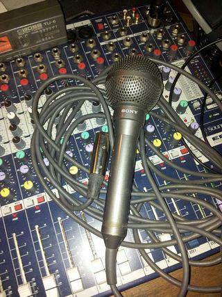 Microfono Sony de locucion intemperie