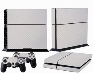 Vinilos Ps4 Carbono Blanco