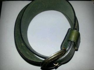 cinturón verde NUEVO oliva ante y cuero piel genuina