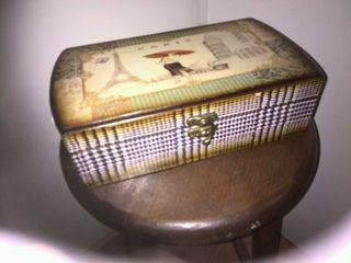 Caja joyero en metal_madera