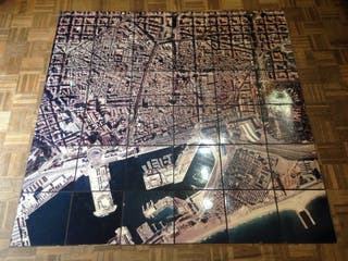 Barcelona Fotografía Aérea mosaico (pieza ÚNICA, Coleccionismo) #mapa #poster #cuadro