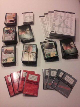 Juego de cartas coleccionista x-files, expediente X