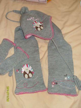 Conjunto de invierno-gorro'bufanda'guantes