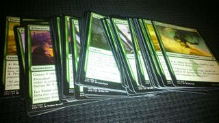 Mazo verde cartas magic