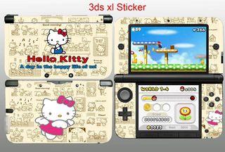 Nintendo 3ds XL Vinilos Hello Kitty