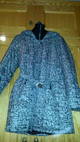 Abrigo gris mujer talla 42