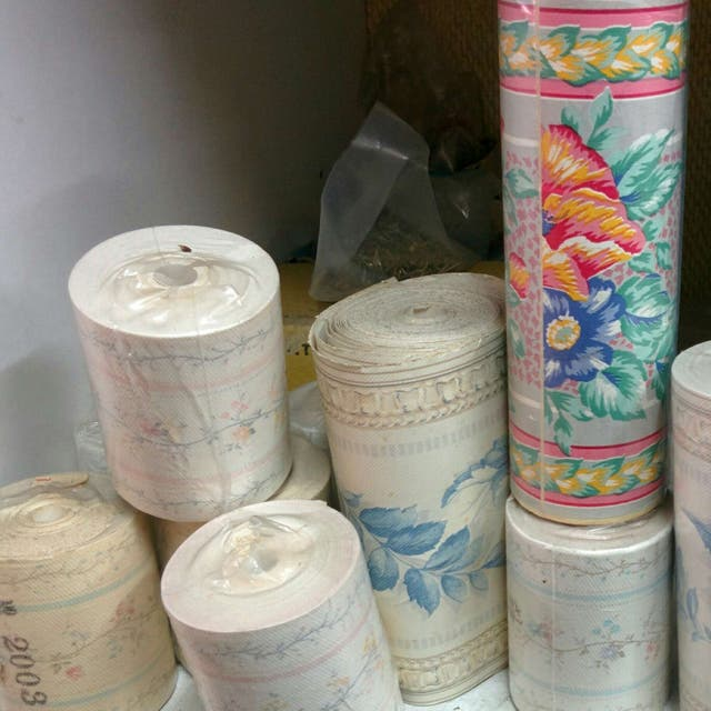 Rollos sueltos papel pintado vintage de segunda mano por - Papel pintado coruna ...