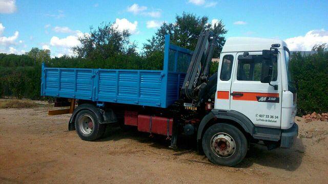 Transportes Camion Grua con volquete